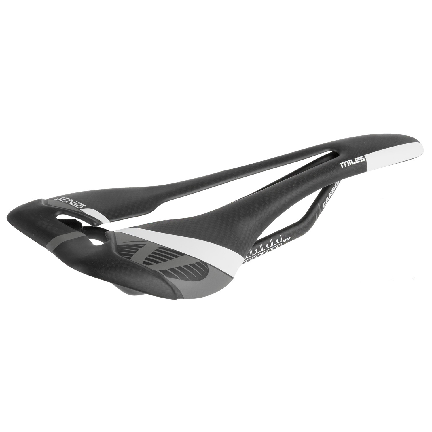 sedeŽ velo angel carbon racing saddle black/white