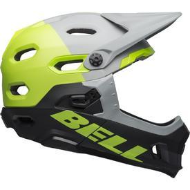 Čelada bell super dh mips matt/glossdark gray/bright green/black