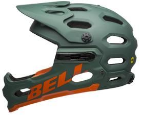 Čelada bell super 3r mips mat dark green/orange